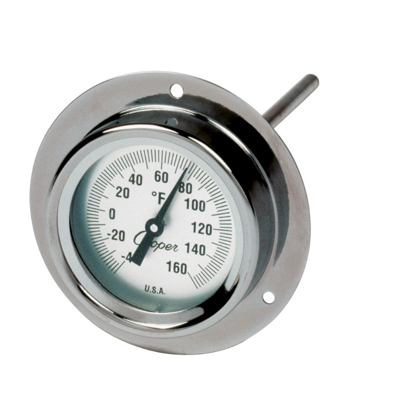 "Industrial Flange Mount 6"" Stem Thermometer"