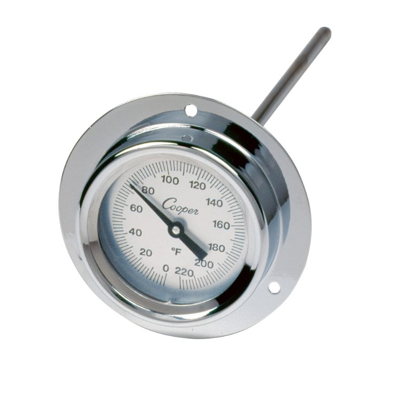 "Industrial Flange Mount 9"" Stem Thermometer"