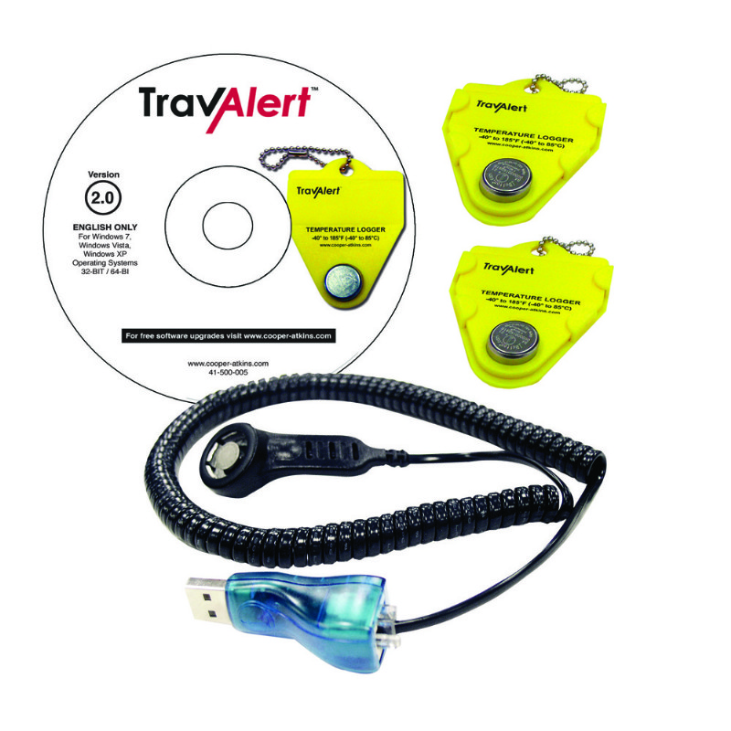 TravAlert Kit with 2 Loggers