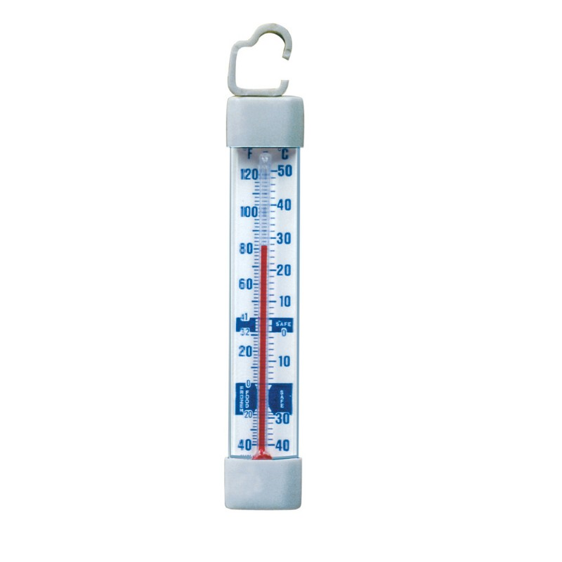Vertical Glass Tube Refrigerator/Freezer Thermometer