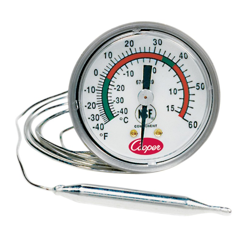 U Bracket Back Connect Panel Thermometer