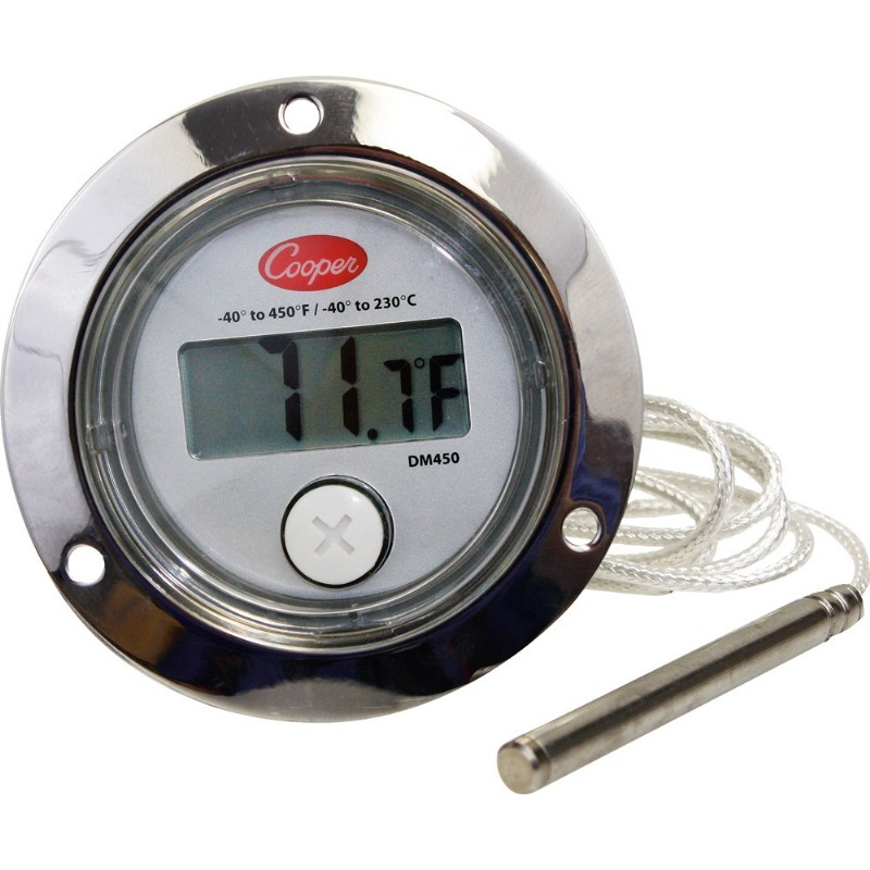 Front Flange Back Connect Panel Thermometer