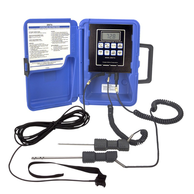 Temperature / Humidity Thermistor Instrument - Traceable to Standards of NIST