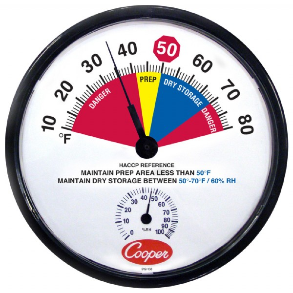 "12"" HACCP Dry Storage / Prep-Area Thermometer"