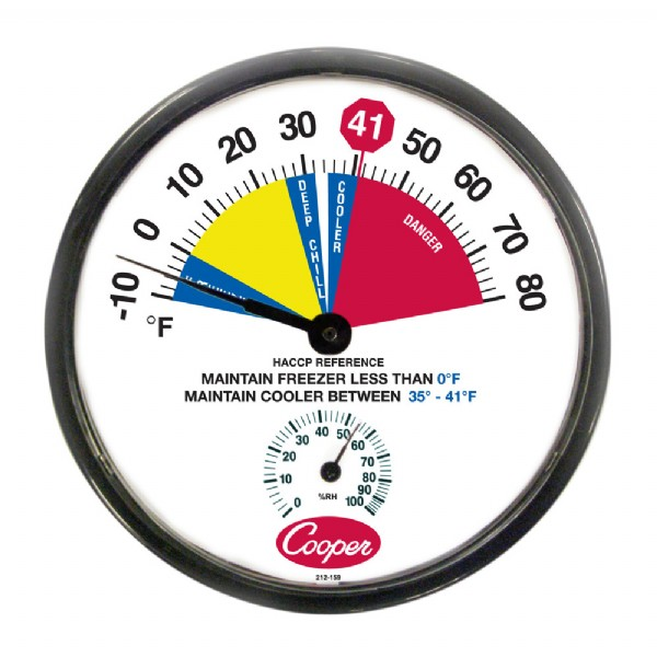 "12"" HACCP Cooler/Freezer Thermometer"