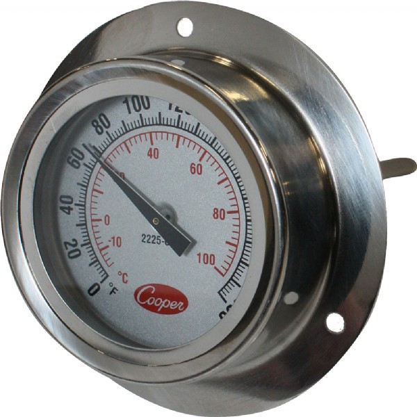 "Industrial Flange Mount 4"" Stem Thermometer"