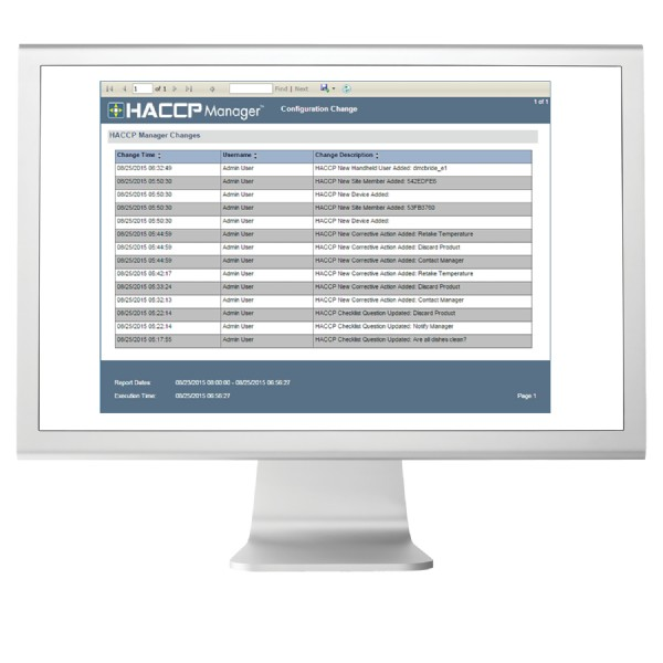 HACCP Manager Enterprise Software