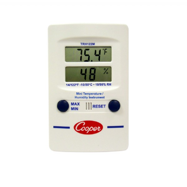 Digital Temperature & Humidity Dual Display Mini Wall Thermometer